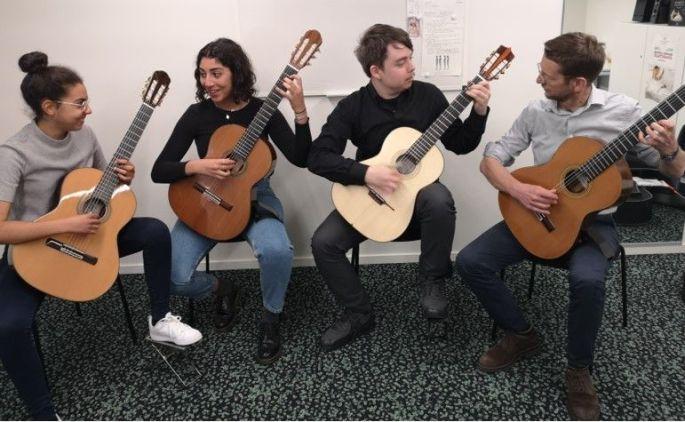 Concert du Quatuor de guitare du Conservatoire Classe de Jean-Jacques Fimbel