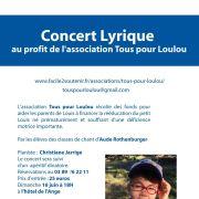 Concert lyrique au profit de l\'association Tous pour Loulou