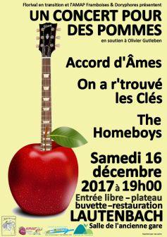 Concert pour des Pommes - au profit d\'Olivier Gutleben