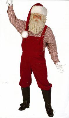 Tout droit sorti de son atelier, le Père Noël 2009 est un retraité toujours très actif (costume Thetru)