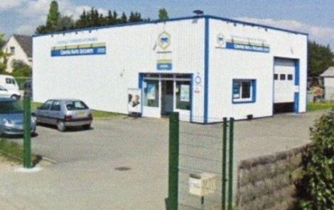 Le centre de contrôle technique Auto Sécurité de Bergheim.