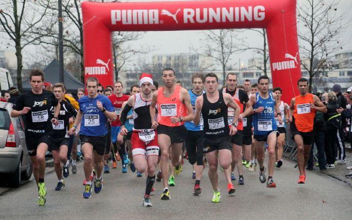 Une course pour célébrer la période de Noël à Illkirch