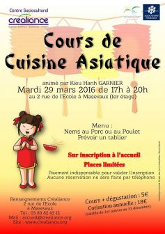 cours de cuisine asiatique masevaux atelier culinaire centre socio culturel masevaux