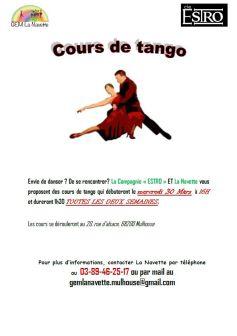 Les cours de tango proposés par la Navette et la Cie ESTRO