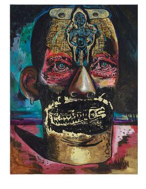 Un tableau de Damien Deroubaix