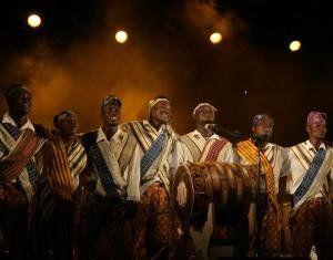 La Fanfare Eyon'lé lors d\'une soirée africaine d\'une des dernières éditions du Festival de Musiques Métisses