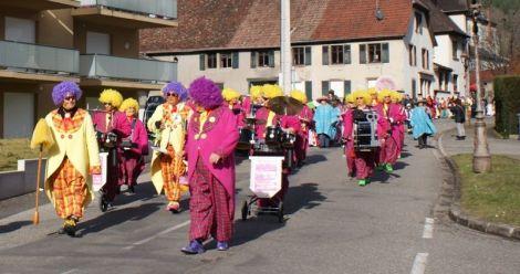 Le défilé du Carnaval à Moosch