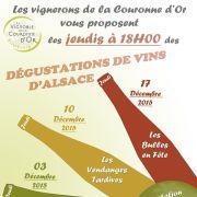 Noël 2015 à Strasbourg : Dégustation commentée de vins d\'Alsace