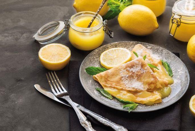 Crêpe au Lemon Curd
