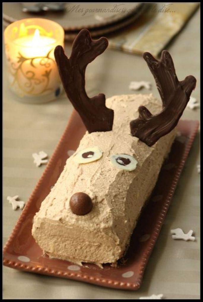 La bûche de Noël en forme de renne !