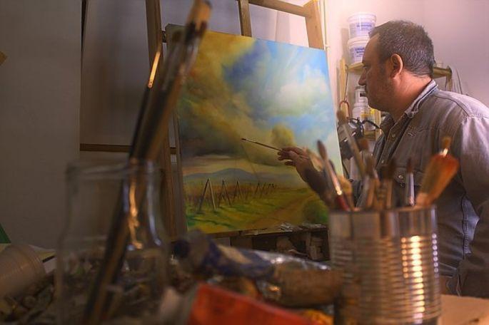 Axel Bertelle est un artiste peintre dont l\'atelier se situe à Epfig