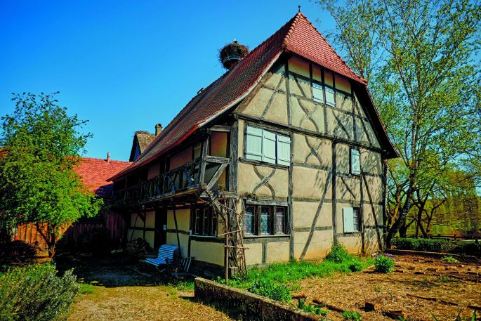 Une maison alsacienne à colombages typiques