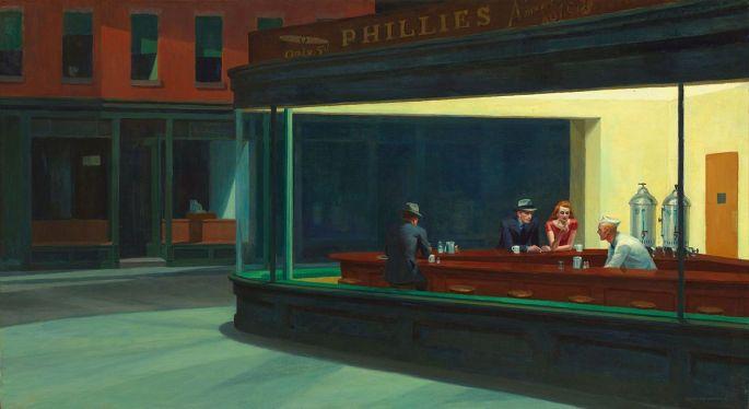 Le fameux tableau Nighthawks d\'Edward Hopper
