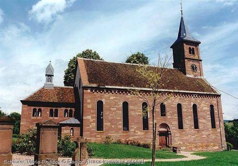 Eglise luthérienne à Langensoultzbach