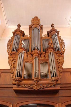 L\'orgue Silbermann-Kern de l\'église protestante de Bouxwiller