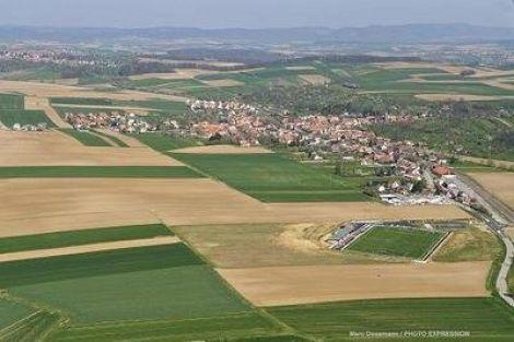 Le village d\'Ettendorf dans le Bas-Rhin
