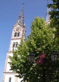 L\'église Saint-Symphorien, à Illkirch.