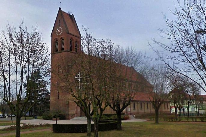 L\'Eglise Sainte-Barbe de Wittenheim