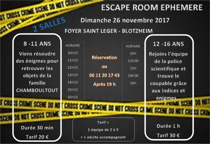 Escape Room éphémère