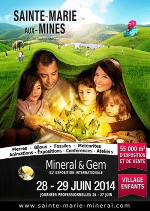 Exposition internationale Minéral et Gem 2014 à Sainte-Marie-aux-Mines