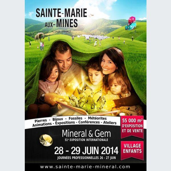 Exposition internationale min ral et gem 2014 sainte - Salon mineraux sainte marie aux mines ...