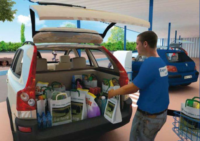 <p>Grâce à l\'Express Drive, vos courses vous sont directement déposées dans le coffre de votre véhicule.</p>