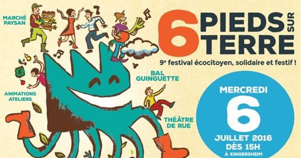 Festival 6 pieds sur terre 2016 kingersheim foire et for Idee deco kingersheim