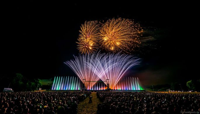 Le Festival Art et Lumière à Furdenheim: feu d\'artifice et show aquatique