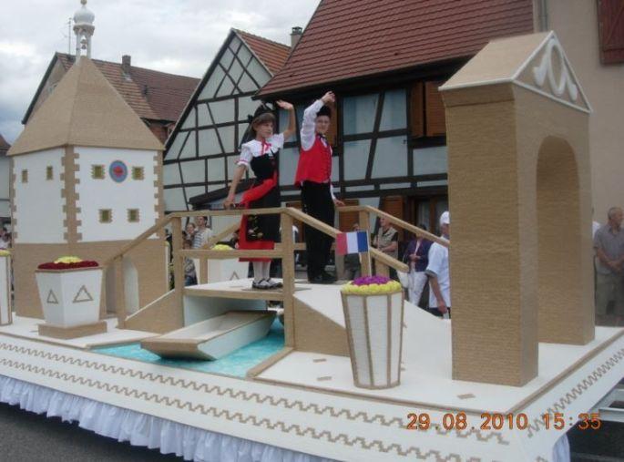Un char entièrement fait en sucre à Erstein!