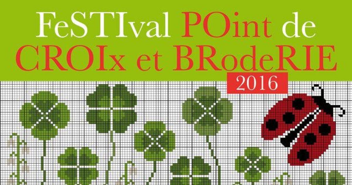 Festival point de croix et broderie 2016 kutzenhausen - Maison point de croix ...