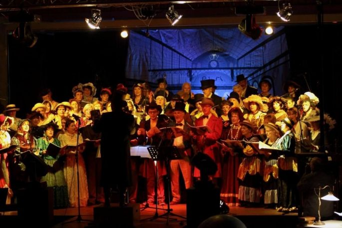 Le spectacle 2013 de la Fête de la Fraxinelle à Hirtzfelden