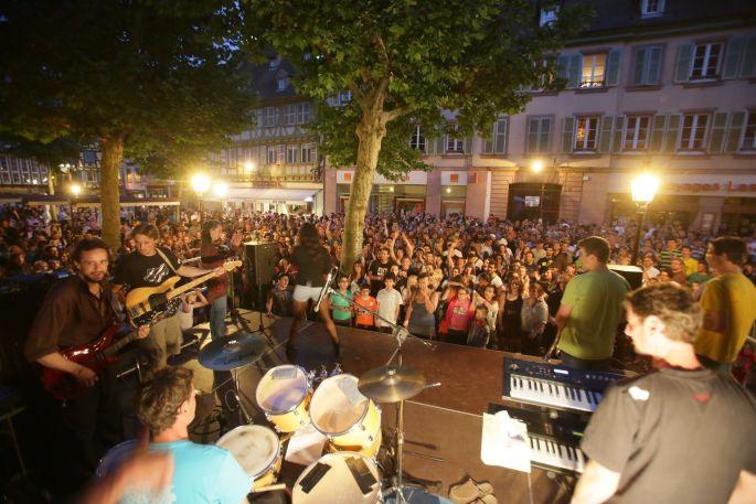 La musique bat son plein dans le centre de Colmar !