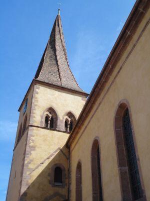 Le clocher vrillé de Niedermorschwihr