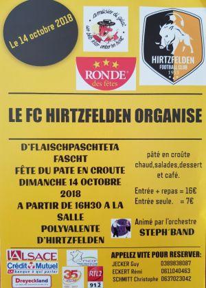 Fête du Pâté en croûte 2018 à Hirtzfelden