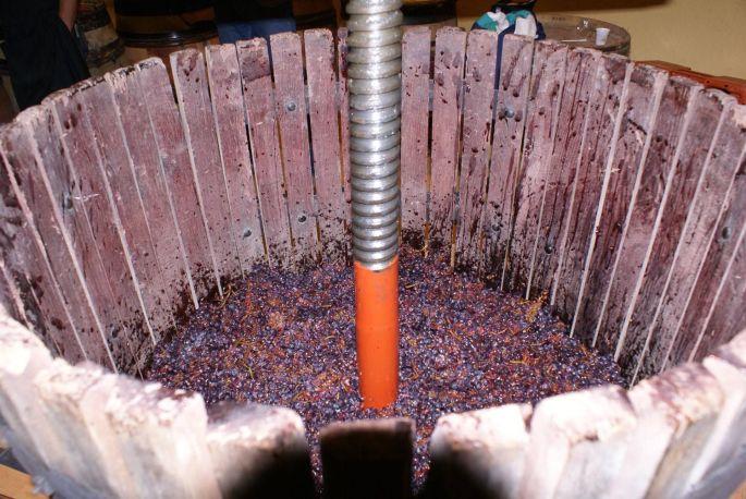 Fête du vin bourru à Nuits-St-Georges: le pressoir