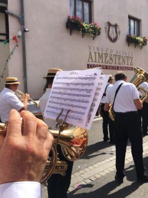 La musique au cœur du défilé de la Fête du vin à Wettolsheim