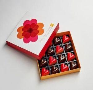 Des chocolats fourrés en forme de cœur par Thierry Mulhaupt
