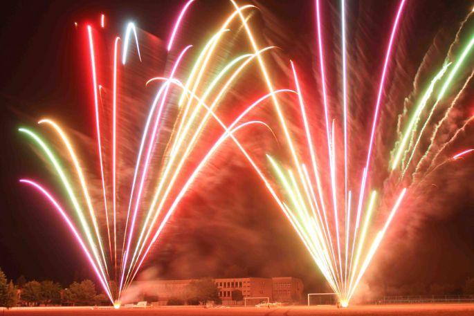 Les feux d\'artifices de la Fête Nationale à Lunéville