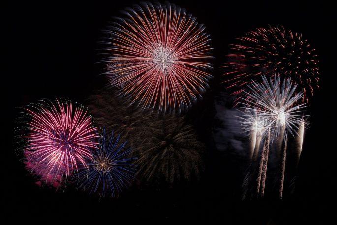 Un feu d\'artifice à voir à Lyon pour le 14 juillet, jour de fête nationale