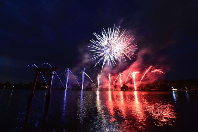 Le feu d\'artifice de la Fête Nationale à Metz