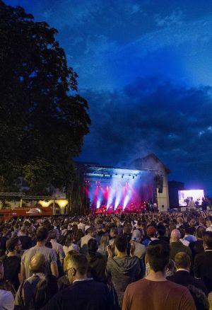 Le concert de la Nuit multicolore à Colmar