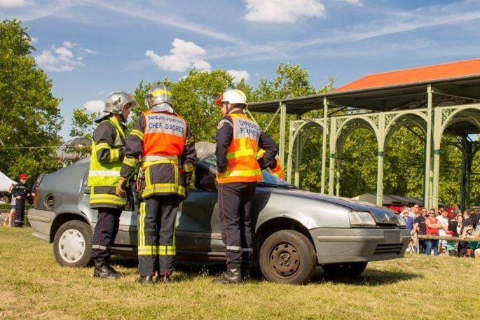 Les démonstrations des pompiers d\'Obernai