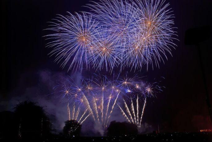 Le feu d\'artifice à Sélestat la veille de la Fête nationale