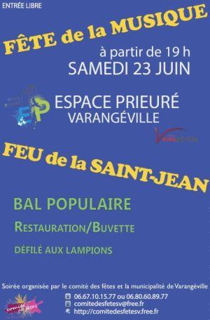 Feu de la Saint-Jean et Fête de la Musique 2018 à Varangéville