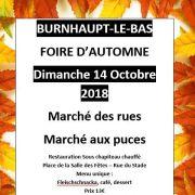 Foire d\'octobre à Burnhaupt-le-Bas