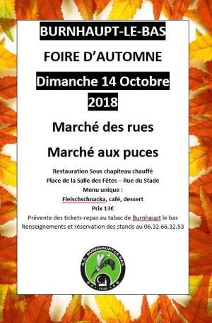 Foire d\'octobre de Burnhaupt-le-Bas 2018