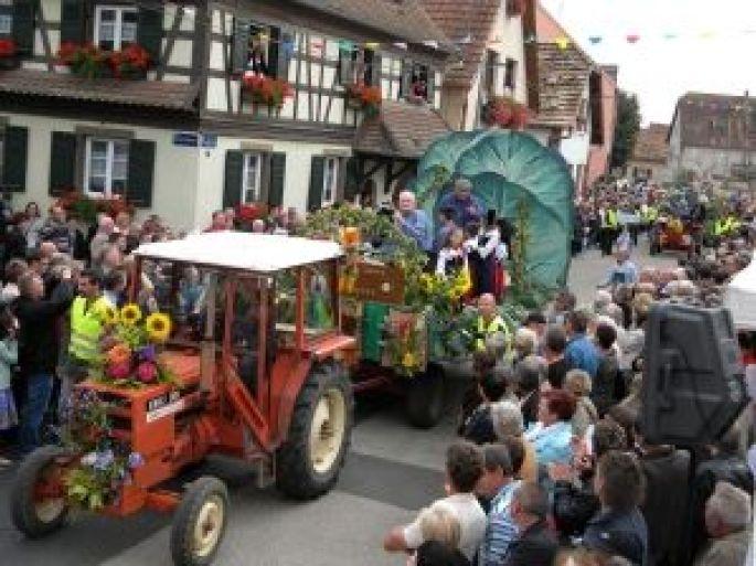 Les chars défilent à Krautergersheim