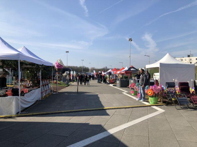 Les allées extérieures de la Foire Expo du Pays de Montbéliard