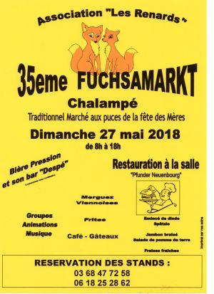 Fuchsamarkt / Marché aux puces à Chalampé 2018