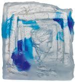 Le verre, travaillé par l\'artiste Raymond Martinez, un exemple d\'une précédente exposition à la Galerie Barina
